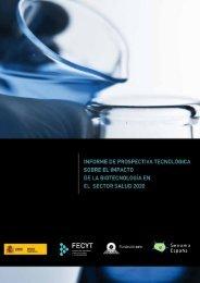 Informe de prospectiva Biotecnologia final_v2 - ICONO - Fundación ...