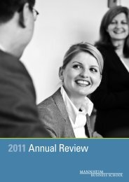2011 Annual Review - Mannheim Business School