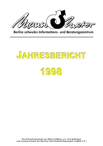 Jahresbericht 1998 - Mann-O-Meter