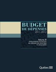 Plans annuels de gestion des dépenses des ministères et organismes