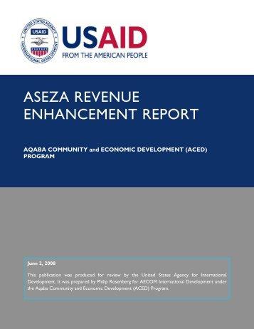 ASEZA REVENUE ENHANCEMENT REPORT.pdf - Aced-jordan.com