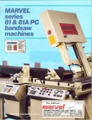 Marvel Series 81 & 81A PC Bandsaw Machines - Sterling Machinery