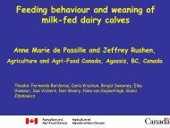 Feeding behaviour and weaning of milk-fed dairy calves