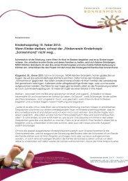 Pressetext Kinderhospiztag 2013_Sonnenmond - Mein Klagenfurt