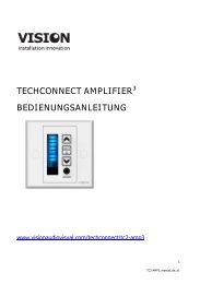 TECHCONNECT AMPLIFIER3 BEDIENUNGSANLEITUNG - Vision