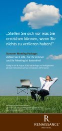 Summer Special im Renaissance Wien Hotel zum ... - platzpirsch