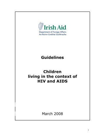 Guidelines Children Living with HIV - Countdown 2015 Europe