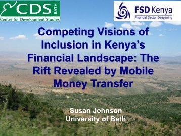 Competing Visions of Inclusion in Kenya's Financial ... - SWIFT Institute