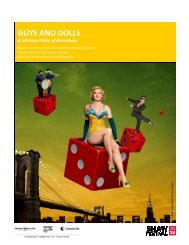 the Guys and Dolls study guide. - Shaw Festival Theatre