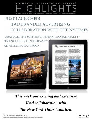 HigHligHts - the Members - Sotheby's International Realty