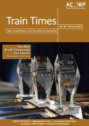 The 2012 ACoRP Community Rail Awards - Association of ...