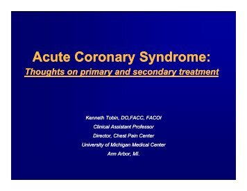 understanding acute coronary syndrome Anticoagulation and antiplatelet therapy in acute coronary syndromes  deeper understanding of the pathobiology of this disease,  st-elevation acute coronary.