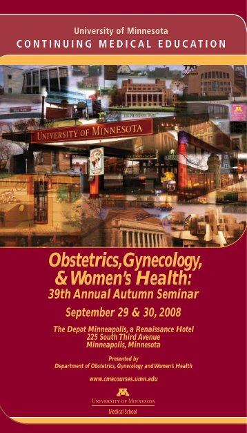 Obstetrics, Gynecology and Women's Health - University of ...