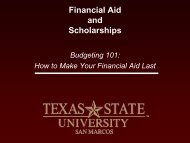 Financial Aid and Academic Performance