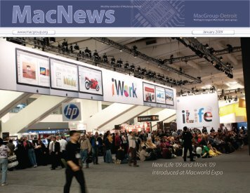 New iLife '09 and iWork '09 introduced at ... - MacGroup-Detroit