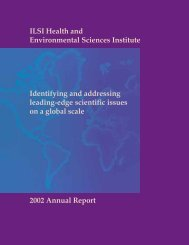 HESI Annual Report 2002 - ILSI Health and Environmental Sciences ...