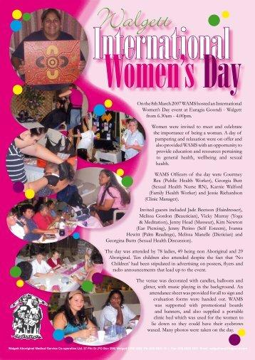 Walgett International Women's Day - WAMS