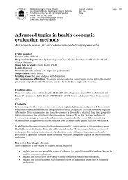 Advanced topics in health economic evaluation methods, 5 credits