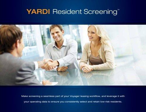 YARDI Resident Screening™ - Yardi Systems UK