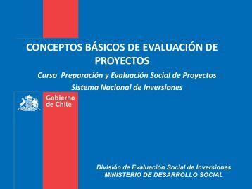 conceptos básicos de evaluación de proyectos - Sistema Nacional ...