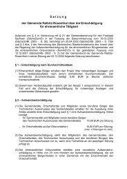 Entschädigung für ehrenamtliche Tätigkeit - Gemeinde Ralbitz ...