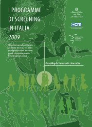 I PROGRAMMI DI SCREENING IN ITALIA 2009 - Osservatorio ...
