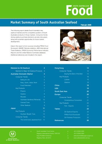 Market Summary of South Australian Seafood - PIRSA - SA.Gov.au