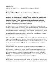 November 2006 - Nederlandse Vereniging voor Fytotherapie