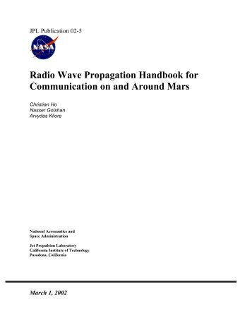 Radio Wave Propagation Handbook for Communication - DESCANSO