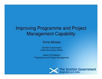 Improving programme and project capability - A Moises