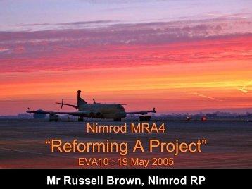 Nimrod MRA4 - Association for Project Management