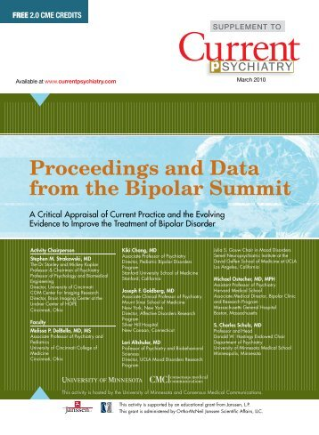 Proceedings and Data from the Bipolar Summit - Ob.Gyn. News