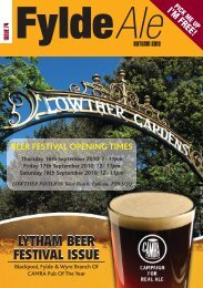 lytham beer festival issue - Blackpool Fylde and Wyre CAMRA