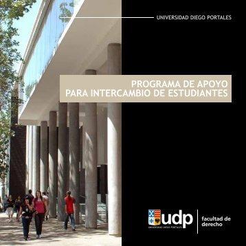 programa de apoyo para intercambio de estudiantes - Universidad ...