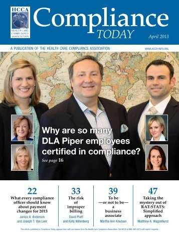pdf version - Health Care Compliance Association