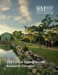 Undergraduate Academic Calendar - Mount Saint Vincent University