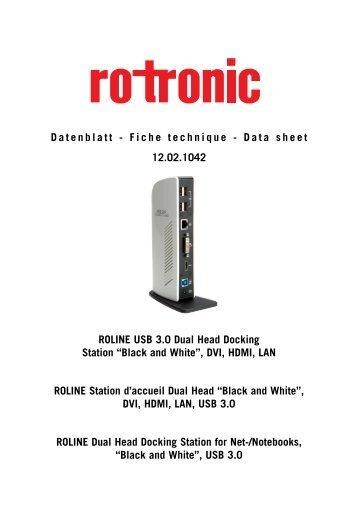 12.02.1042 Datenblatt - Fiche technique - Data sheet ROLINE USB ...