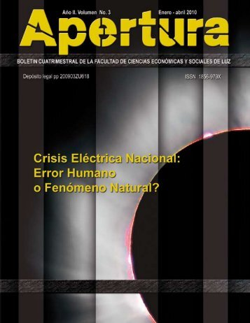 LUZ FCES Boletín Apertura No 3 Enero Abril 2010 - cpzulia.org