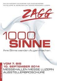 VOM 7. BIS 10. SEPTEMBER 2014 MESSEHALLEN ... - ZAGG Luzern