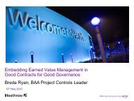 Embedding earned value management in contracts - Association for ...
