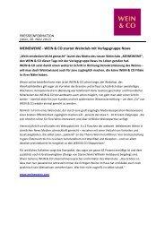 MEINEWEINE - WEIN & CO startet Weinclub mit Verlagsgruppe News