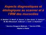 Aspects diagnostiques et étiologiques au scanner et à l'IRM des ...