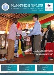 MCA Mozambique Newsletter June 2013 - MCLI