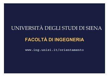 Laurea Magistrale - Unisi.it - Università degli Studi di Siena