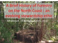 A Brief History of Forestry on the North Coast - Sonoma Land Trust