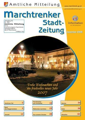 Stadtzeitung Dezember 2006 - Marchtrenk