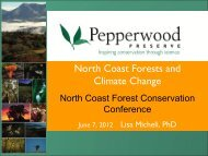 North Coast Forests and Climate Change - Sonoma Land Trust
