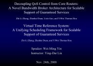 Decoupling QoS Control from Core Routers - High Speed Network ...