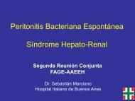 Peritonitis Bacteriana Espontánea Síndrome Hepato-Renal