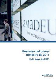 Resumen del primer trimestre de 2011 - Investor relations at Amadeus